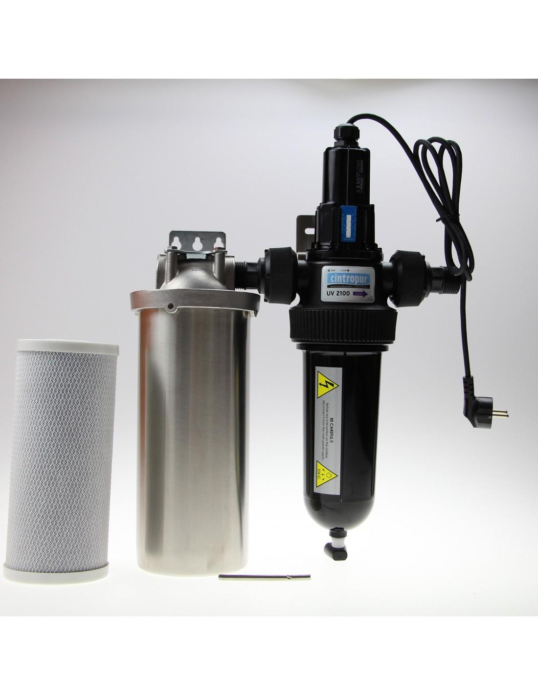 Haus Wasser Desinfektionsfilter, 2 Stufig, Mit Uv Lampe Für