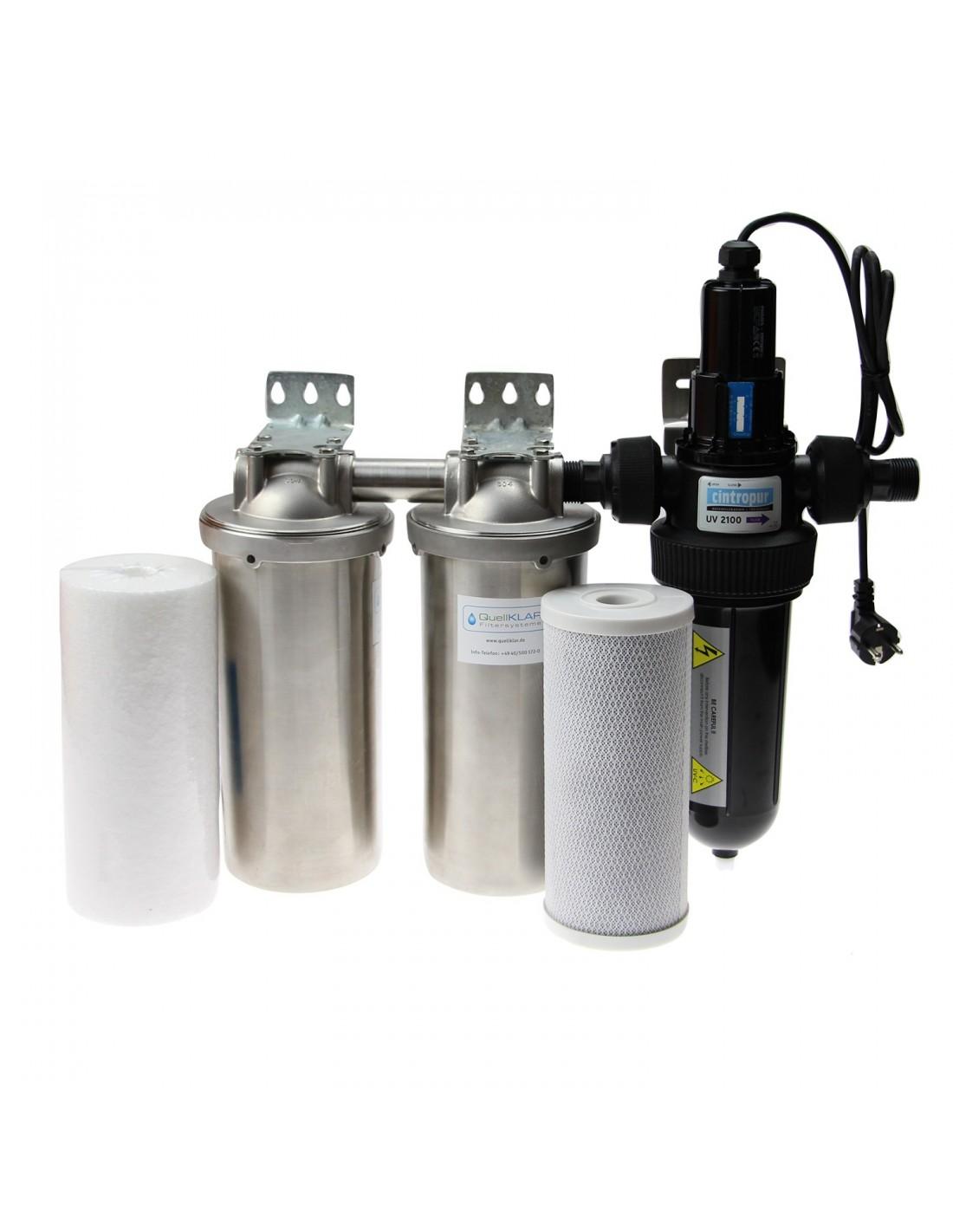 Haus-Wasserfilter, Edelstahl Gehäuse, Set Zur Desinfektion Und
