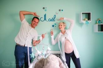 Séance avant bébé à la maison