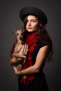 portrait-enfant-chien-studio