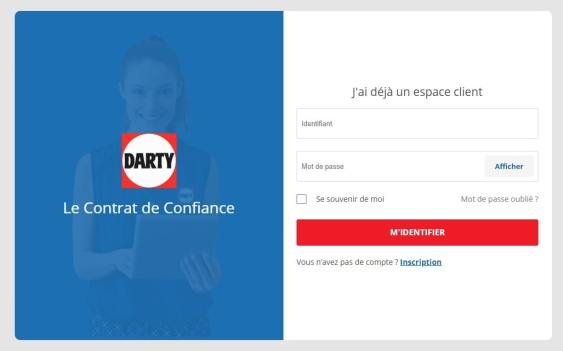 Se connecter Darty