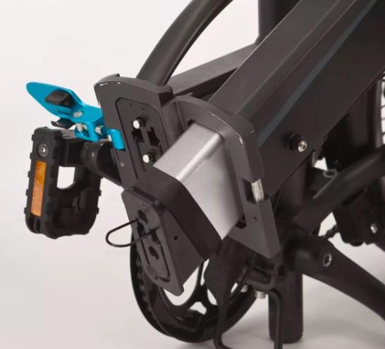 BTWIN Tilt 500E, vélo électrique pliant, la batterie