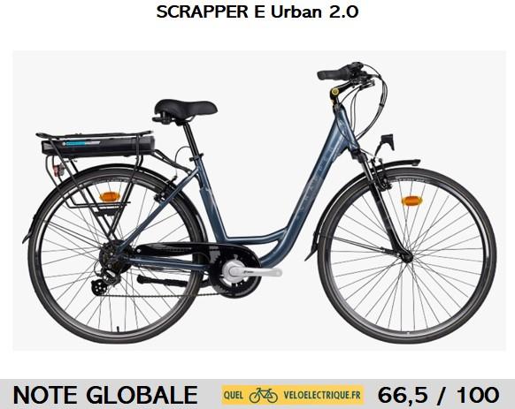 vélo Scrapper E Urban 2.0 note quel vélo électrique MAJ 2021
