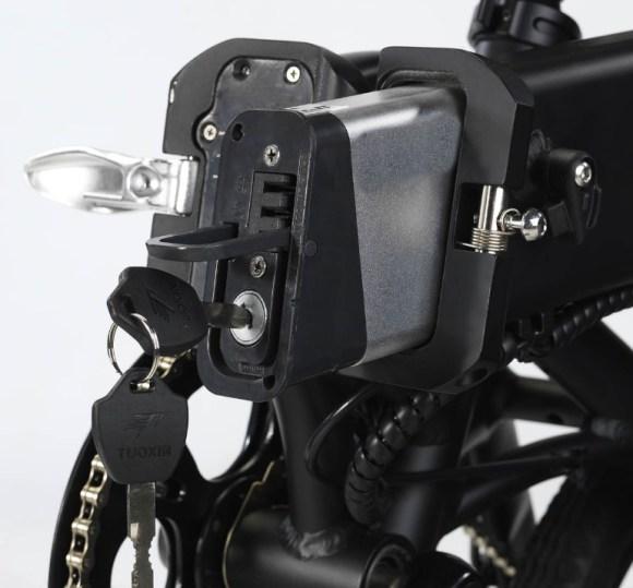 Revoe vélo electrique pliant batterie