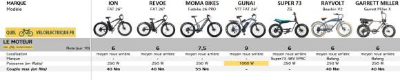 Comparatif Fatbike électrique 1. Le Moteur