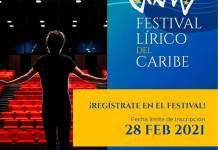 Arte promocional del Festival Lírico del Caribe 2021