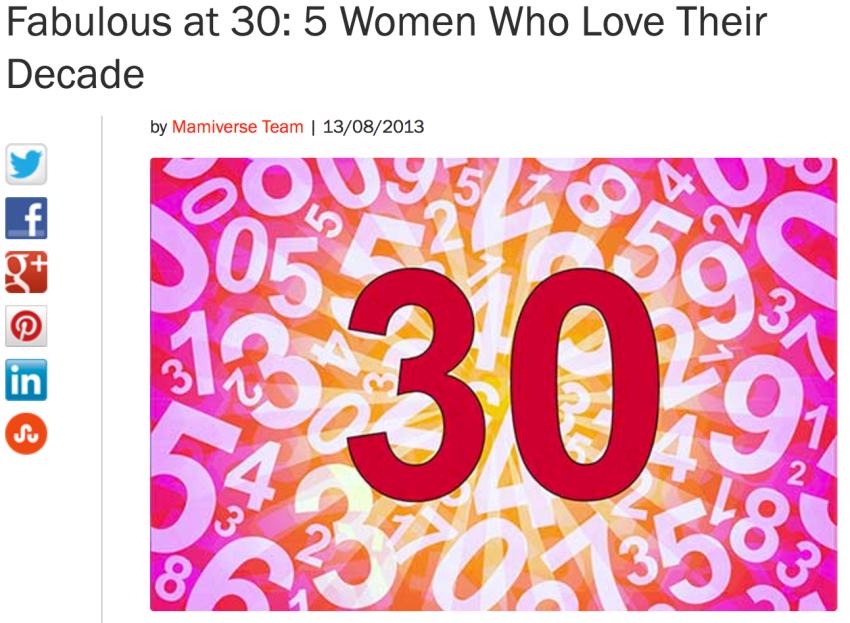 MAMIVERSE.com Fabulous at 30: 5 Women Who Love Their Decade