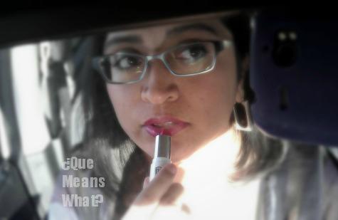 applying-Target-np-lipstick