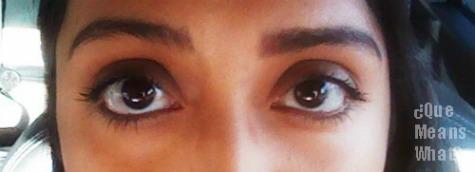 finished eye makeup