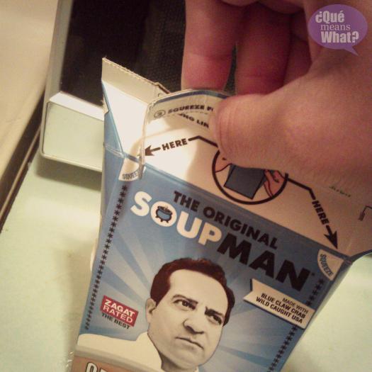 original soupman packaging