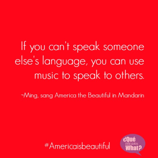 use music to speak to others americaisbeautiful