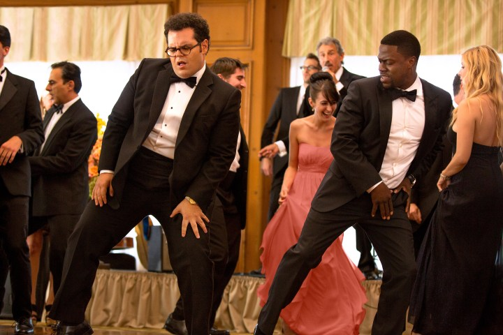 Doug (Josh Gad) and Jimmy (Kevin Hart) in Screen Gems' THE WEDDING RINGER. PHOTO courtesy of Sony Pictures Entertainment