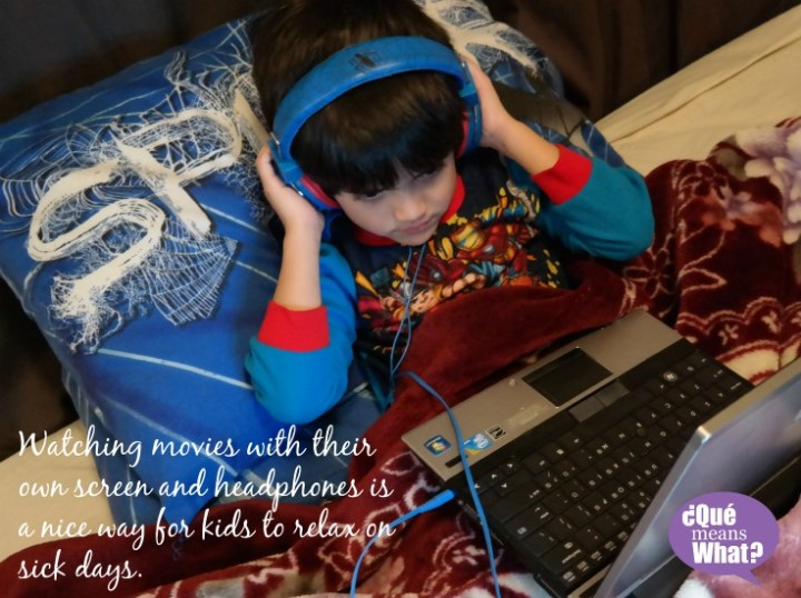 Watching Movies is a relaxing activity for kids on sick days QueMeansWhat.com