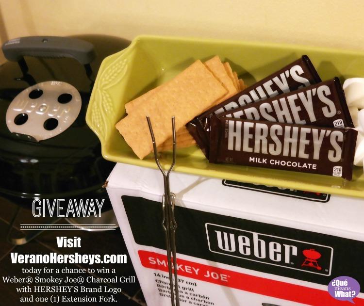 Giveaway #VeranoHersheys Weber Smokey Joe Grill QueMeansWhat