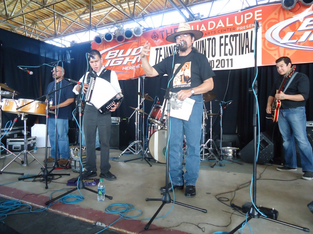 Juan Tejeda at the Tejano Conjunto Festival (Photo courtesy of GCAC)