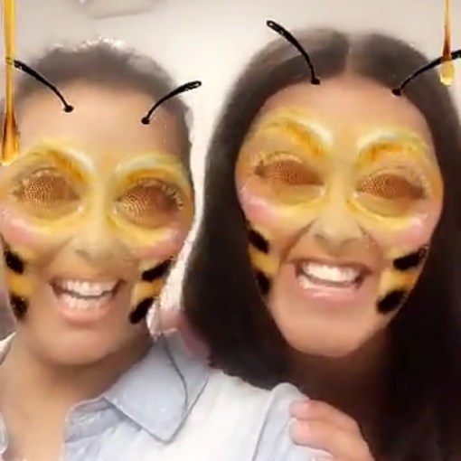 Eva Longoria and Gina Rodriguez on Snapchat - Que Means What