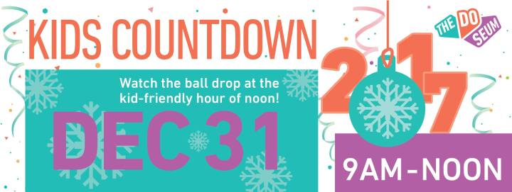 Kick off the New Year with the Kids countdown at The DoSeum - QueMeansWhat.com