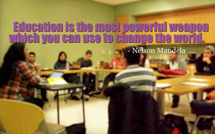 Education is the most powerful weapon - QueMeansWhat.com