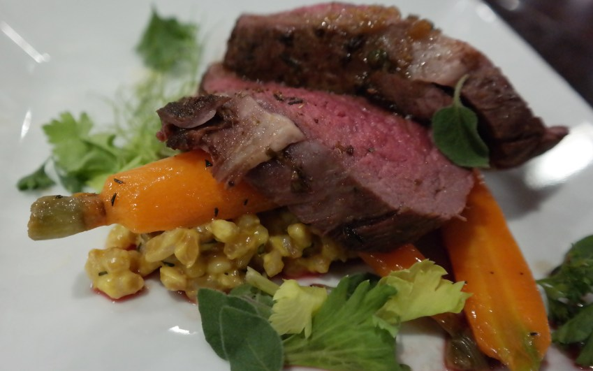 Cold Smoked Bison Loin at Sazo's San Antonio Marriott Rivercenter - Quemeanswhat.com