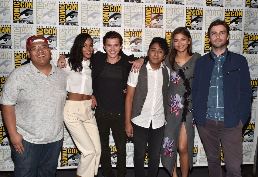 The cast of SPIDERMAN Homecoming at Comicon 2016 (Photo by Alberto E. Rodriguez/Getty Images for Disney)