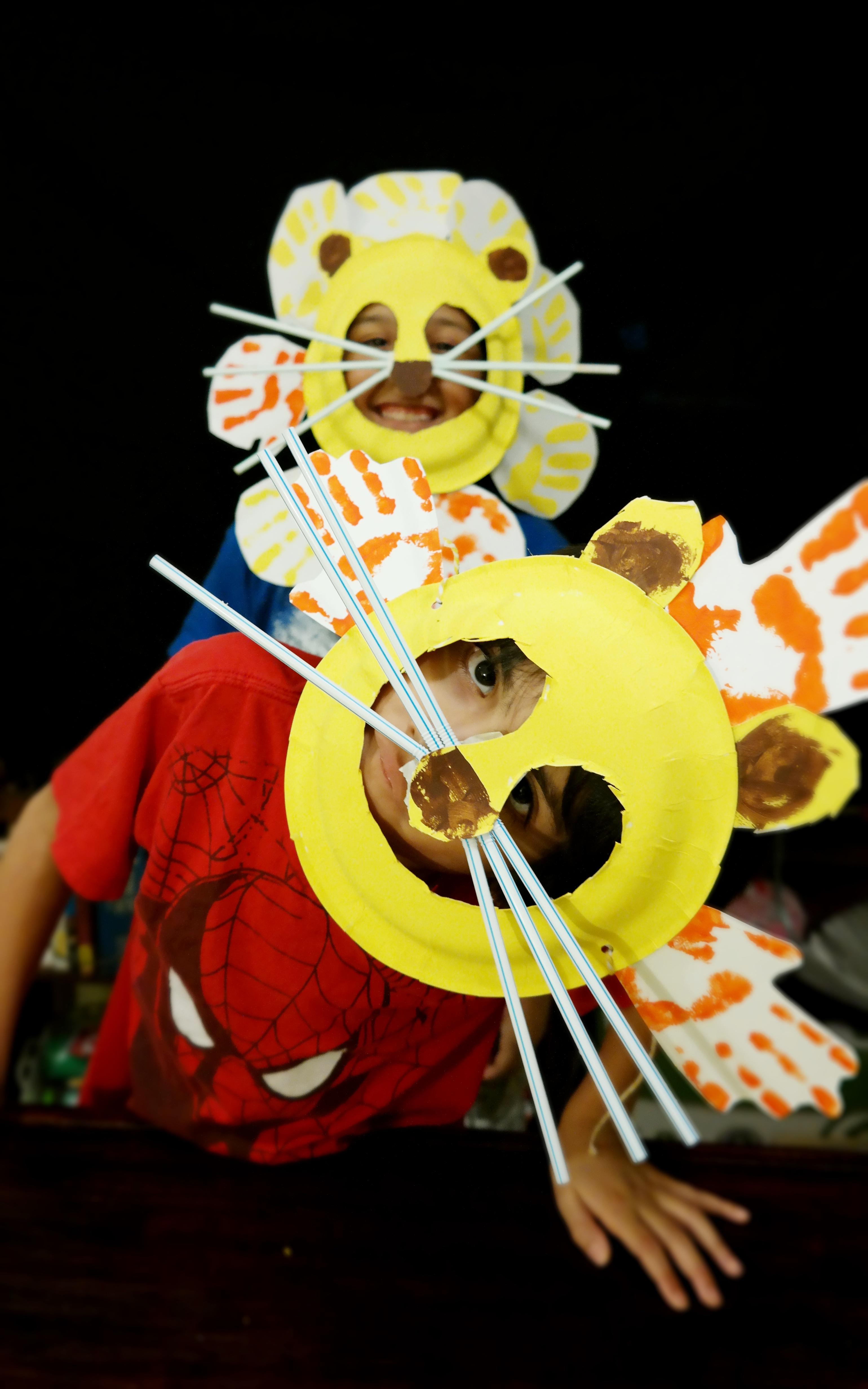 Boys Make Lion Mask Kids Craft - QueMeansWhat.com