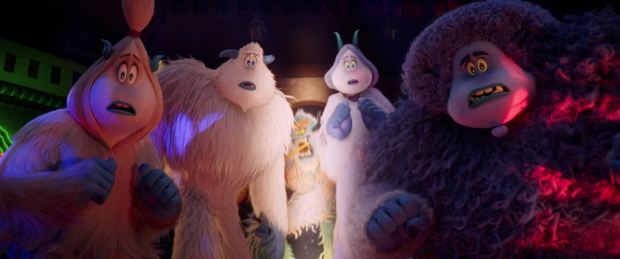 "(L-R) Kolka voiced by GINA RODRIGUEZ, Migo voiced by CHANNING TATUM, Meechee voiced by ZENDAYA and Gwangi voiced by LEBRON JAMES in the new animated adventure ""SMALLFOOT,"" from Warner Bros. Pictures and Warner Animation Group. Courtesy of Warner Bros. Pictures"