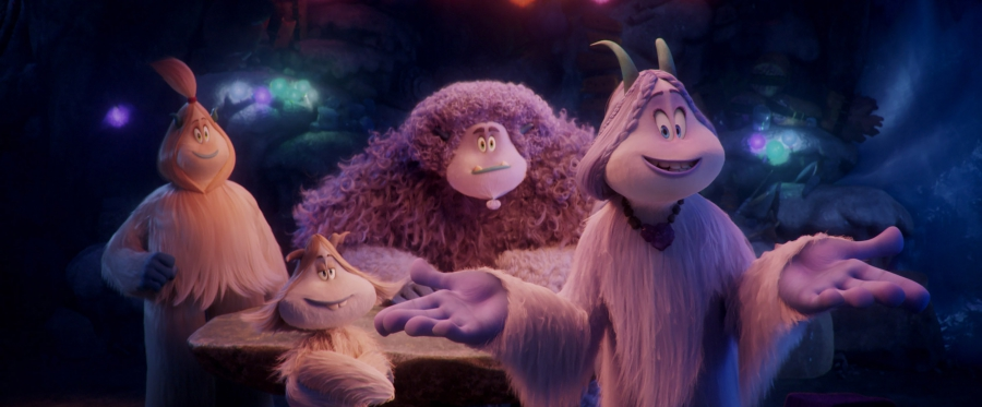 "(L-R) Kolka voiced by GINA RODRIGUEZ, Fleem voiced by ELY HENRY, Gwangi voiced by LEBRON JAMES and Meechee voiced by ZENDAYA in the new animated adventure ""SMALLFOOT,"" from Warner Bros. Pictures and Warner Animation Group. Courtesy of Warner Bros. Pictures"