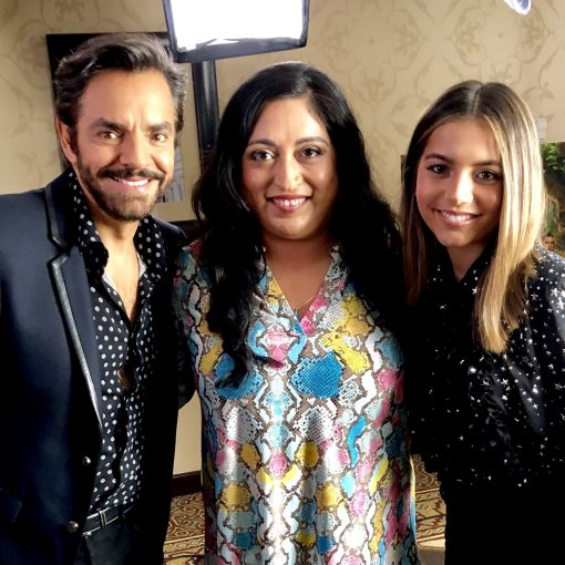 Eugenio Derbez and Isabela Moner