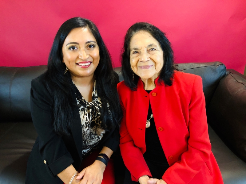 Melanie @QueMeansWhat with Dolores Huerta