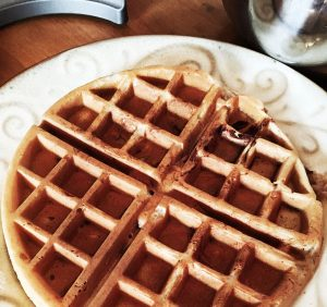 Waffle made in Vertical Waffle Maker