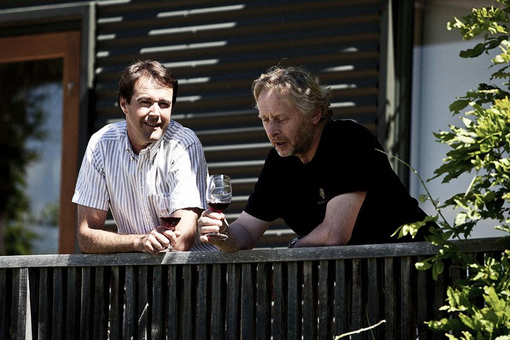 Nigel Greening and Blair Walter from Felton Road Vineyard.