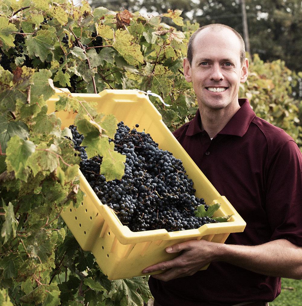 Hybrid wines University of Minnesota grape breeder Matt Clark