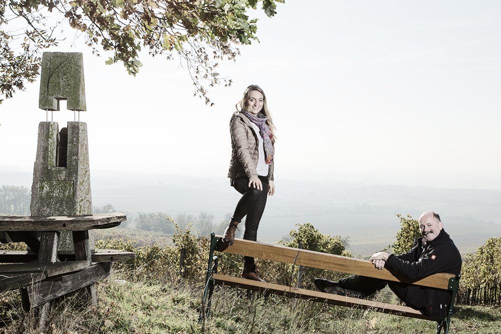 Die Winzer Franz und Christine Netzl