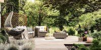 Backyard patio style