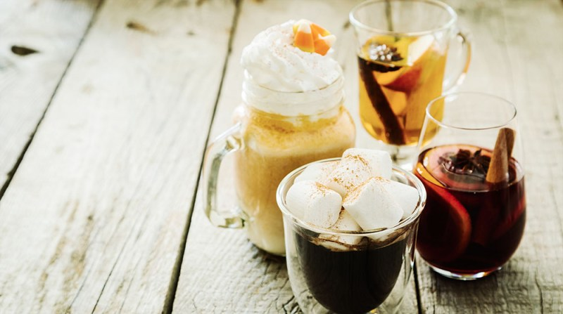 Selection of hot drinks