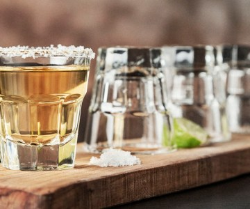 Tequila shots in a row.