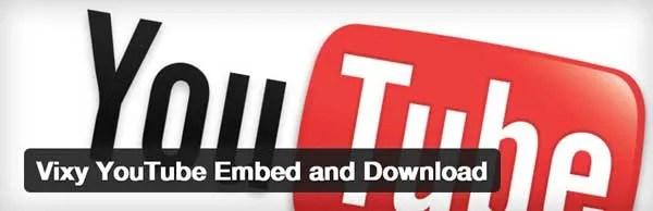 Vixy-YouTube-Embed-Plugin