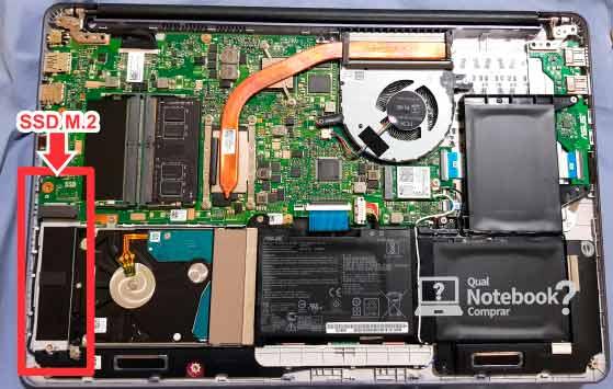 placa interna notebook asus ASUS X510 VivoBook entrada M.2
