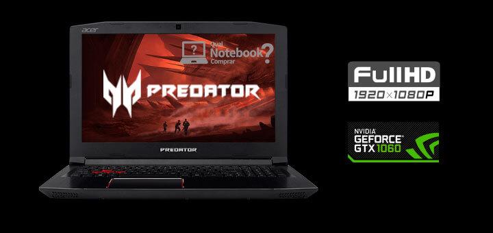 Notebok para jogos Acer pretador