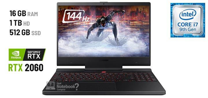 Samsung Odyssey 2 NP850XBC-XG1BR Core i7-9750H 16 GB de RAM SSD 512 GB GeForce RTX 2060