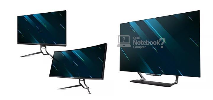 Monitores Acer Predator X32, X38 e CG552K