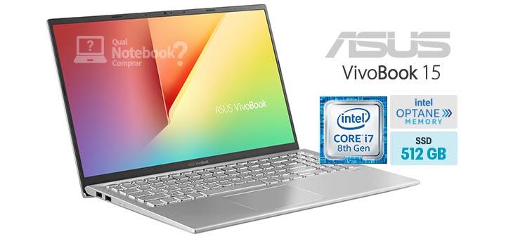 ASUS VivoBook 15 X512FJ-EJ553T capa Core i7 8th RAM 8 GB Intel Optane 32 GB SSD 512 GB