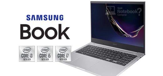 Samsung Book capa processadores Intel decima geracao novo design