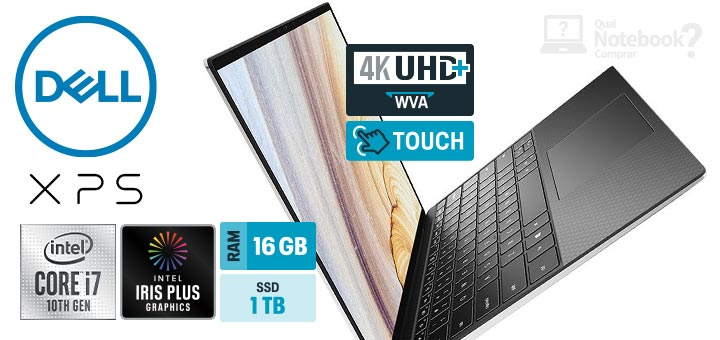 Dell XPS 13 9300 C capa Intel Core i7 RAM 16 GB SSD 1 TB 4K multitouch
