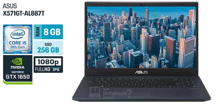 ASUS X571GT-AL887T especificacoes tecnicas ficha tecnica configuracoes