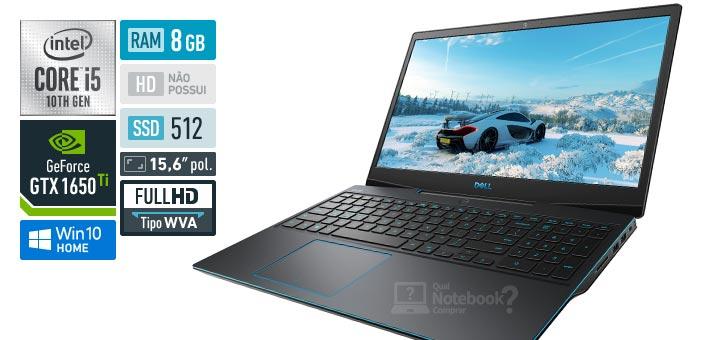 Dell G Series 15 G3-3500-M20P Core i5 10th RAM 8 GB SSD 512 GB GeForce GTX 1650 Ti Full HD WVA Windows