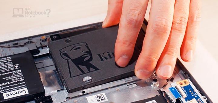 Lenovo IdeaPad 3i ventoinhas resfriamento possibilidade de expansao SSD