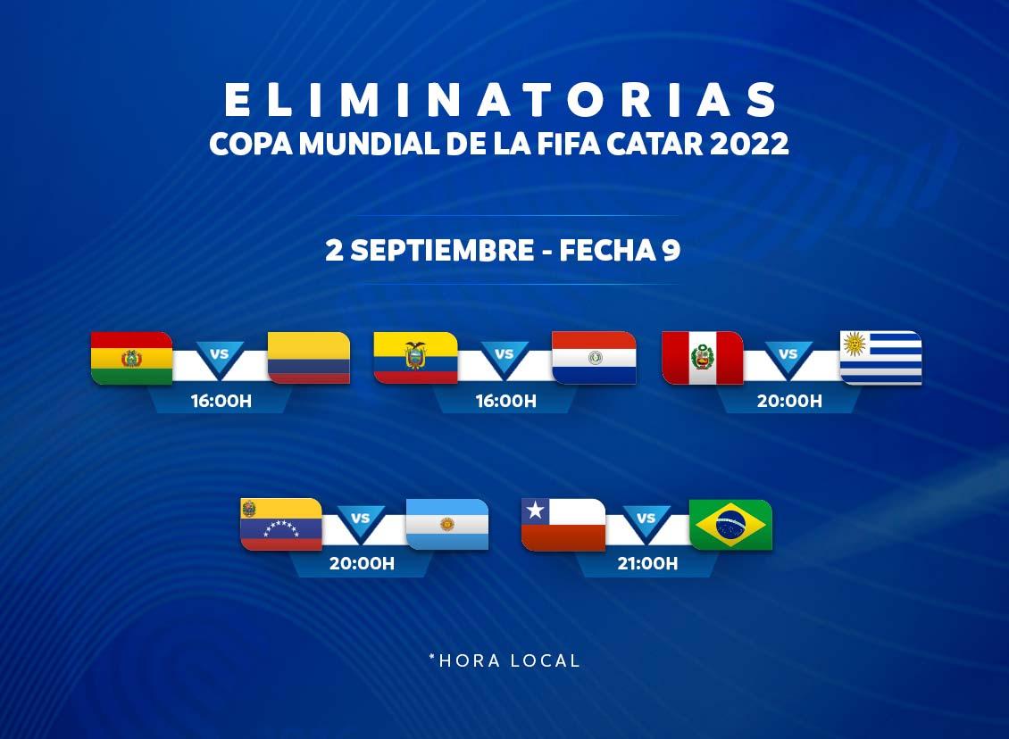 eliminatorias sudamericanas fecha 9