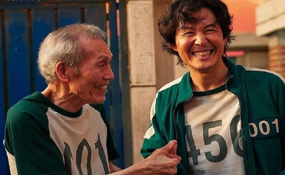 Oh Yeong-su y Lee Jung Hae en El juego del Calamar