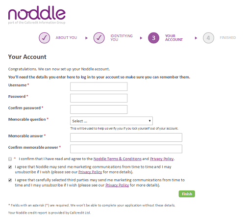 final noddle credit check form